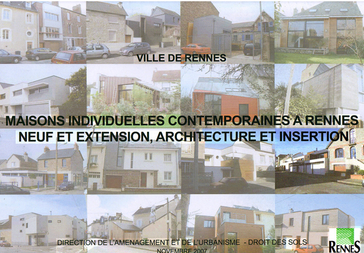 Maisons individuelles contemporaines à Rennes